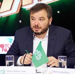 Генеральный продюсер НТВ Тимур Вайнштейн во время пресс-конференции