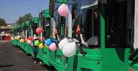 В Оше начали курсировать 23 современных троллейбуса, поступившие из России по линии Европейского банка реконструкции и развития
