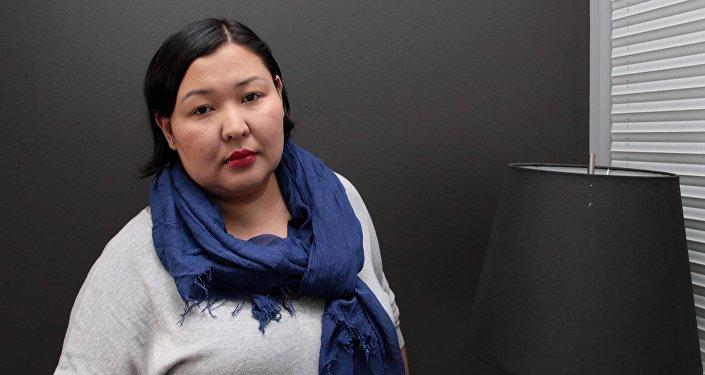 Архивное фото кыргызстанской журналистки Айгуль Ниязалиевой