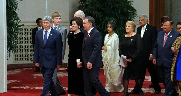 Рабочий визит Алмазбека Атамбаева в Китай