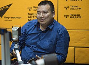 IT-технолог, программист Төлөгөн Аматов Sputnik Кыргызстан радиосуна маек