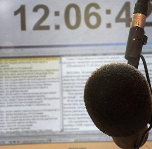 Студия радиостанции. Архивное фото
