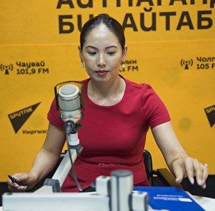 Архивное фото заместителя министра труда и социального развития Лунары Мамытовой