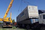 Бишкекте мыйзамсыз орнотулган эки контейнер алып салынды