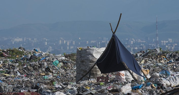 Вид на Бишкек со столичного мусорного полигона. Архивное фото