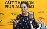 Кыргыз Республикасынын Эл артисти, кино жана театр актрисасы Назира Мамбетова маек учурунда