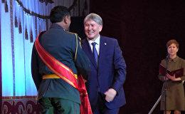 Атамбаев: КР армиясынын мекенди душмандан коргоп калууга кудурети жетет