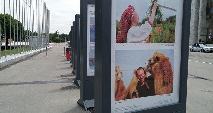 Экспозиция приурочена к 15-летию деятельности представительства Российской газеты в Кыргызстане
