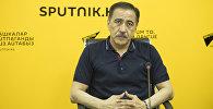 Генерал-майор, эксперт по безопасности, экс-заместитель председателя ГКНБ Артур Медетбеков во время интервью Sputnik Кыргызстан. Архивное фото