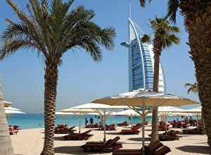 Вид на туристический отель в Дубае