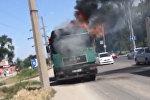 Бишкекте жүк ташуучу унаадан өрт чыкты. Күбөнүн видеосу