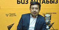 Генеральный Директор Национального Общества Красного Полумесяца КР Алеев Рустам во время интервью Sputnik Кыргызстан