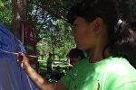 Гульжигит и Аяна играли с детьми — акция Диалог поколений