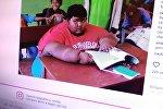 Снимок с социальной сети Instagram пользователя ochaaca. Самый толстый в мире мальчик 11-летний житель Индонезии Арья Пермана