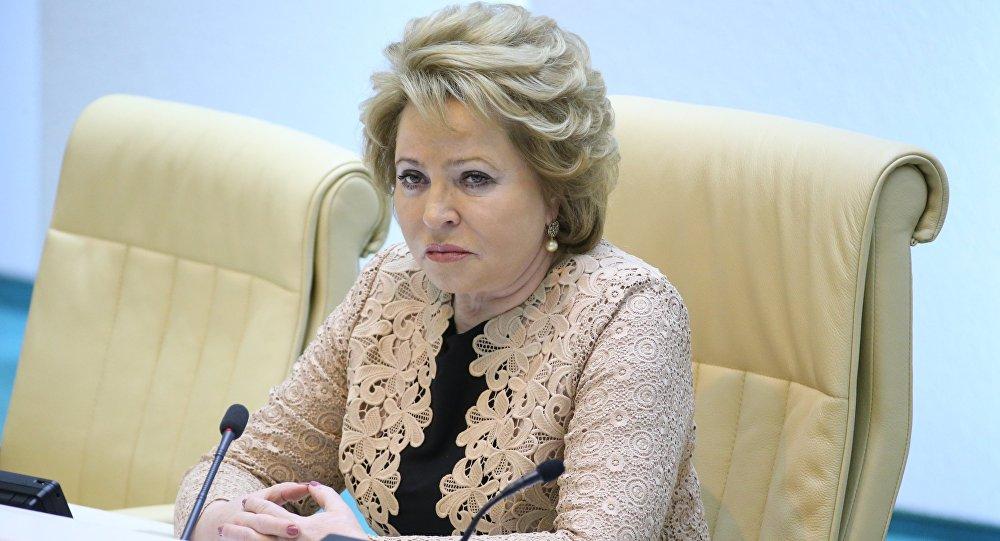 РФтин Федерация Кеңешинин төрайымы Валентина Матвиенко. Архив