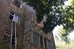 Пожар в квартире многоэтажного дома по улице Шевченко Бишкека