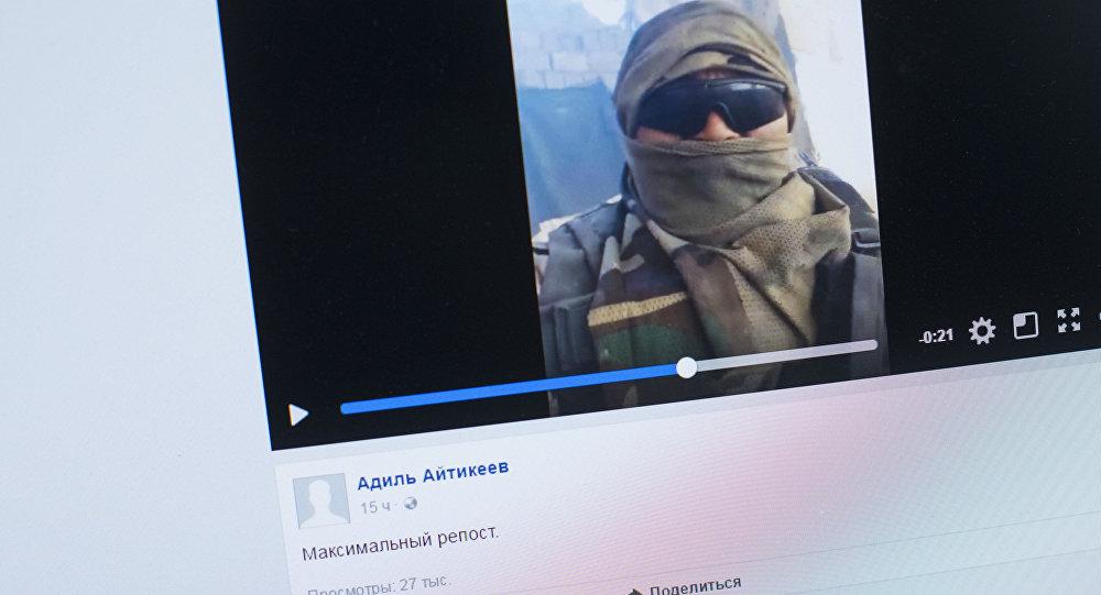 Видео, снятое кыргызстанцем, предположительно, в Сирии. Фото со страницы Facebook пользователя Адиль Айтикеев