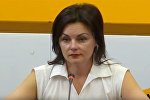 Врач-диетолог Ирина Кабасакал на пресс-конференции в мультимедийном пресс-центре Sputnik Беларусь