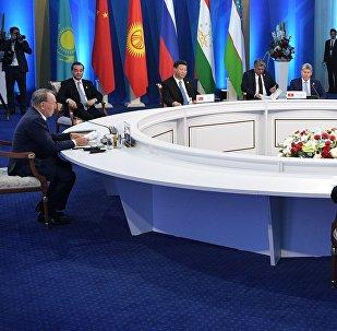 Рабочий визит президента РФ В. Путина в Казахстан