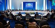 Заседание совета глав государств - членов Шанхайской организации сотрудничества (ШОС) в расширенном составе