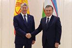 Границы должны быть формальными — кадры встречи Атамбаева и Мирзиёева