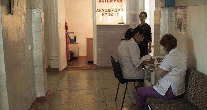 Врачи клинического родильного дома №2 в Бишкеке
