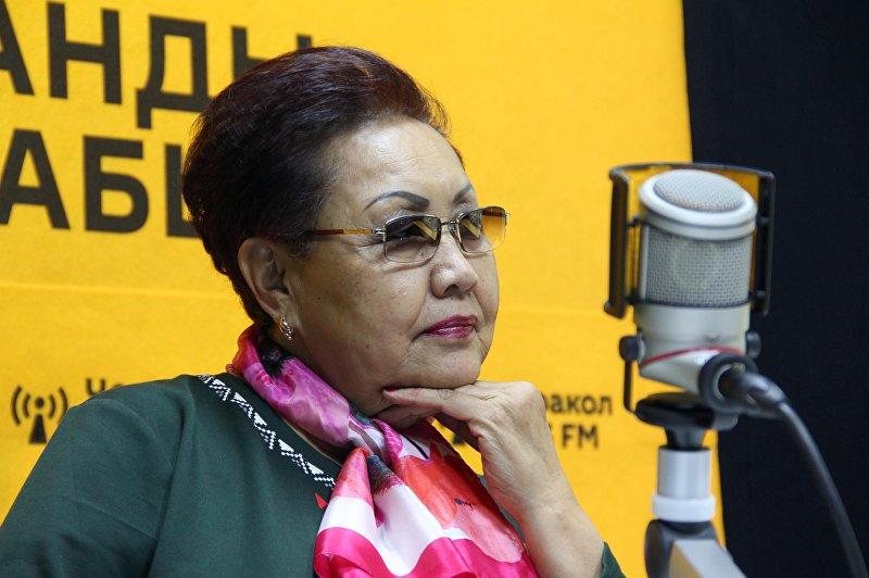 Народный артист СССР Самара Токтакунова во время интервью Sputnik Кыргызстан