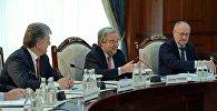 Генеральный секретарь Организации Объединенных наций Антониу Гутерриш на встрече с президентом Кыргызстана Алмазбеком Атамбаевым