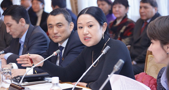 Жогорку Кеңештин мурдагы депутаты Ыргал Кадыралиеванын архивдик сүрөтү
