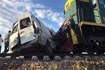 Кара-Балта менен Беловодское айылынын ортосунда поезд менен маршрутка кагышкан