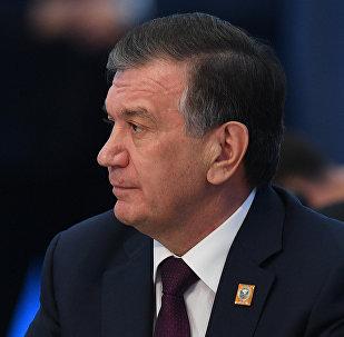 Архивное фото президента Узбекистана Шавката Мирзиеева