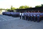 Бишкек шаардык ички иштер башкармалыгынын кызматкерлери. Архивдик сүрөт