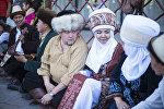 Участники церемонии открытия IV Республиканского фестиваля театров в Бишкеке