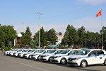Передача десяти автомобилей Renault Logan Джалал-Абадскому областному отделению Патрульной милиции