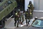 Сотрудники спецслужб Белоруссии принимают участие в антитеррористическом учении. Архивное фото