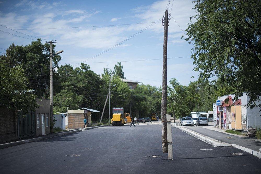 Расширение проезжей часть улицы Фатьянова в Бишкеке