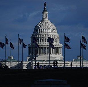 Вид на Капитолий в Вашингтоне (округ Колумбия). Архивное фото