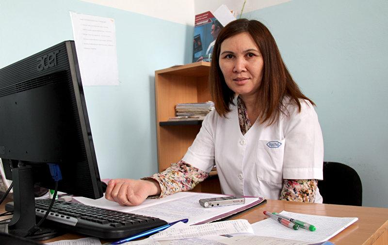 Врач-гематолог в кыргызском национальном центре гематологии Мэри Эралиева