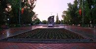Вид на центральную площадь в городе Токмок. Архивное фото