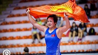Бронзовая призерка олимпийских игр в Токио Мээрим Жуманазарова. Архивное фото