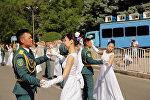 Торжественное мероприятие, посвященное выпуску лейтенантов Военного института КР в Бишкеке