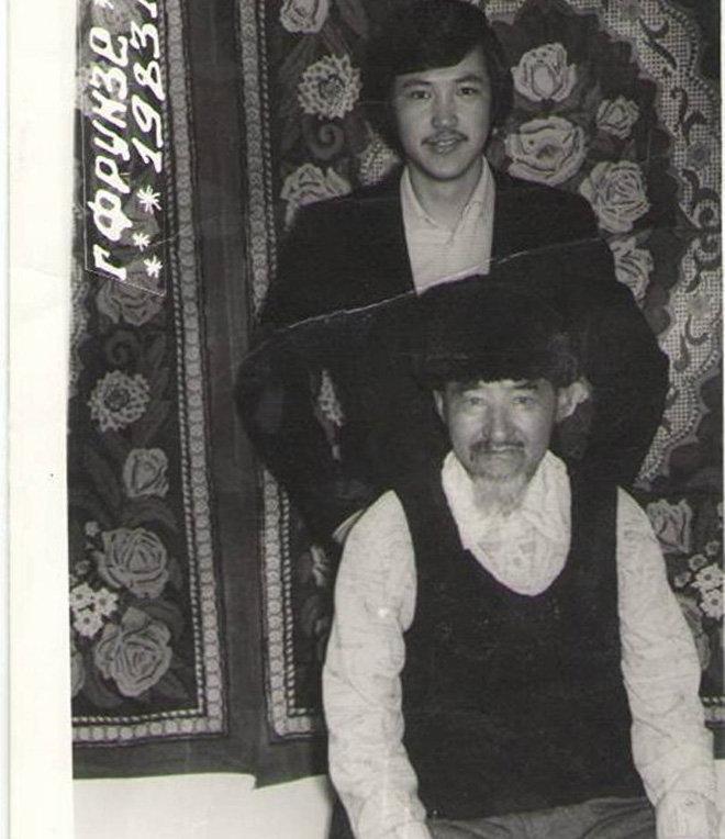 Народный артист Кыргызстана Керим Турапов с отцом
