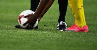 Во время матча Кубка конфедераций-2017 по футболу между сборными Камеруна и Чили.