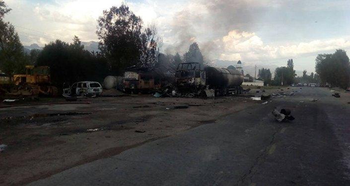 Сгорело несколько автомобилей