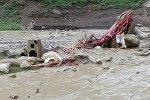 Алайдын Үч-Дөбө айыл аймагында жайгашкан Ничке жайлоосунда сел жүрүп колоттун ичиндеги боз үйдү агызып кетти