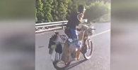 Сильное видео! Велосипедист с одной рукой и ногой уехал в путешествие