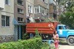 Бишкекте бир жарандын батиринен үч унаа таштанды чыгарылды
