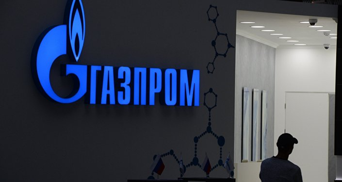 Логотип ОАО Газпром. Архивное фото