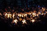 Акция Свеча памяти 1941-1945 на площади Победы в память о погибших героях Великой Отечественной войны