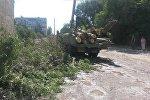 Вырубка деревьев в микрорайоне Восток-5